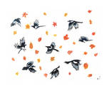 Autumnal Magpies