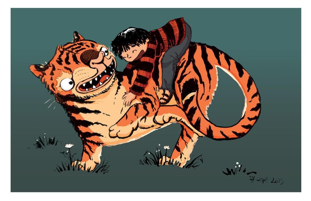 My tiger and me by bonzaialsatian