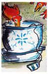 teatime birdbath