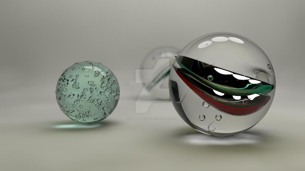 Glass balls by semo ka on deviantart