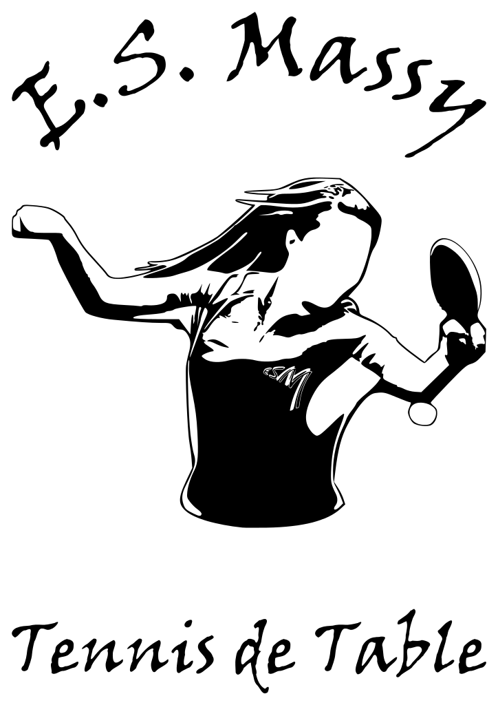 Women logo for the table tennis club of Massy