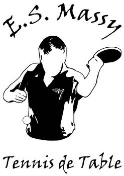 Men logo for the table tennis club of Massy