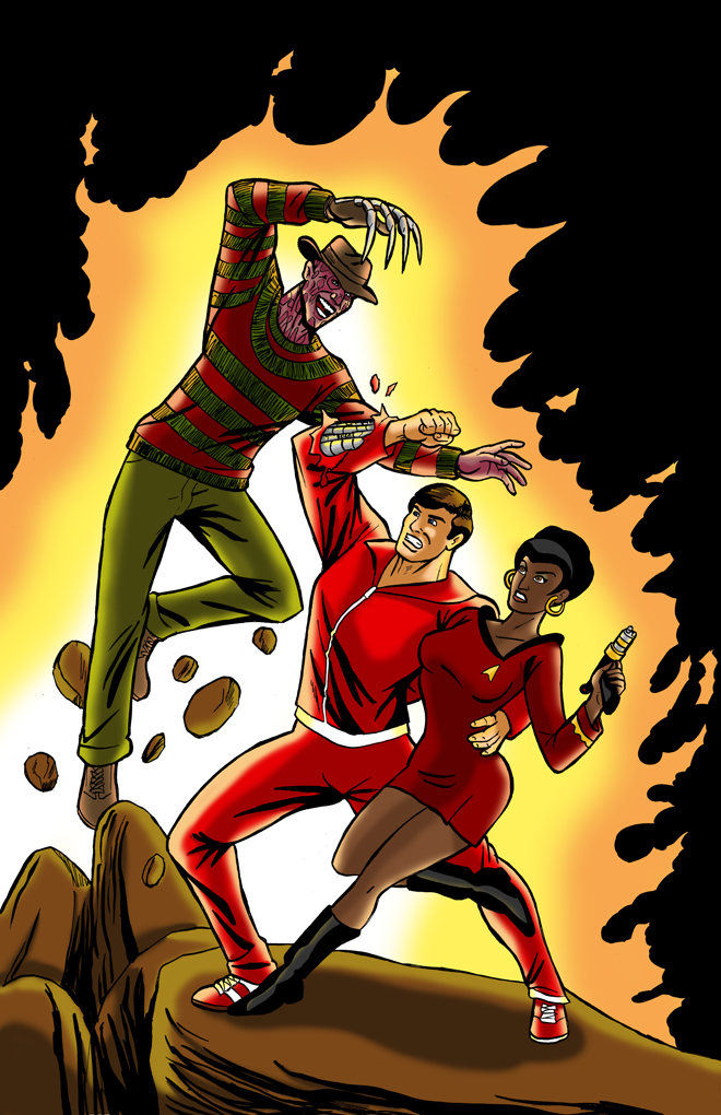 Freddy VS 6MD Man and Uhura by cachacity
