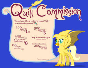 Gilded's Quill Commissions