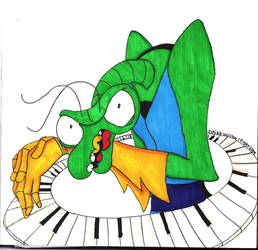 Zorak and his Keyboard by HepcatNesmith