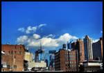 a patch of blue sky