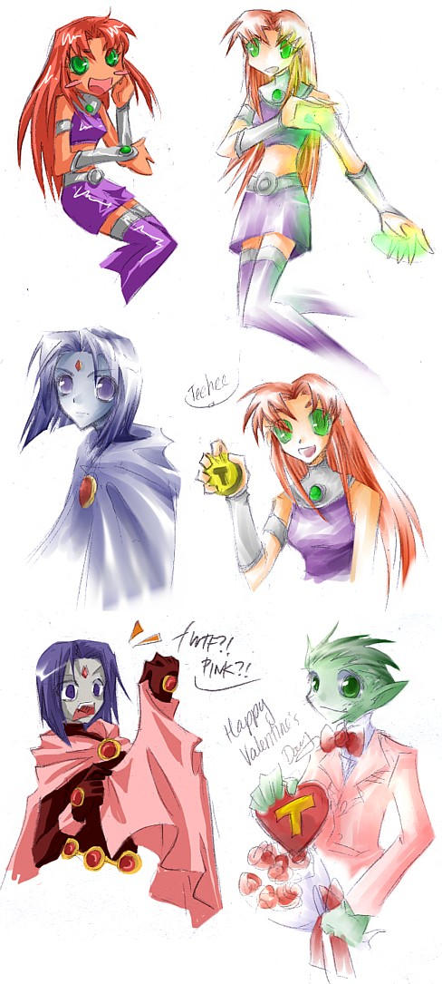 2005-FEB: Teen Titans by luckyiota