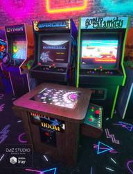 Retro Arcade Cabinets by joelegecko