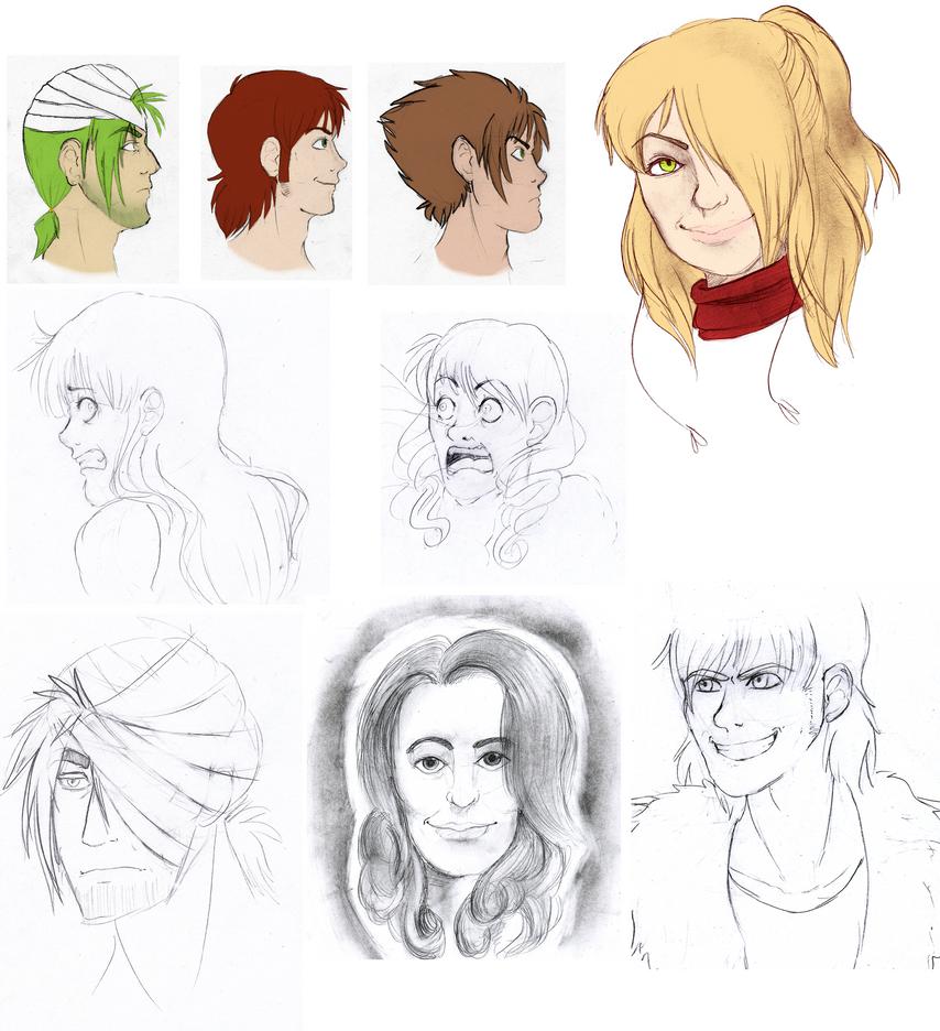 Sketch Dump: Face it by Scarletify