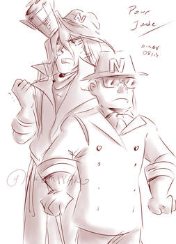 Sketch Commission : N.Gin and N.Vodka