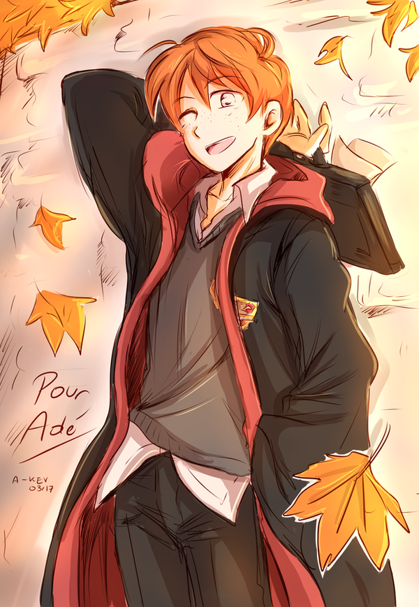 Ron Weasley commission by Akemimi