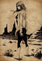 Desert girl_sunday sketch by StereoiD