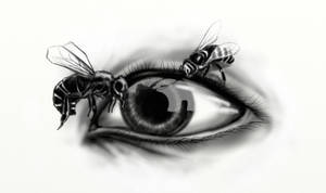 Tattoo series - Eye of the BEEholder by StereoiD