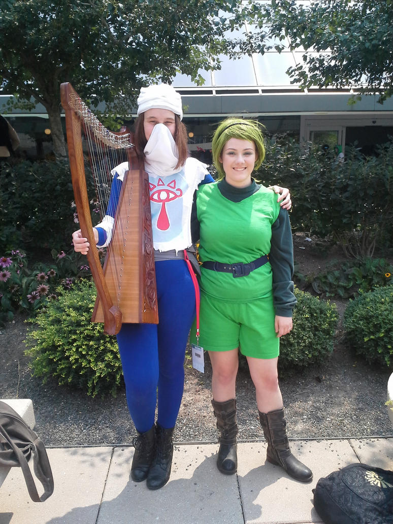 Saria and Sheik Cosplay: Otakon 2014 by GarnetElf