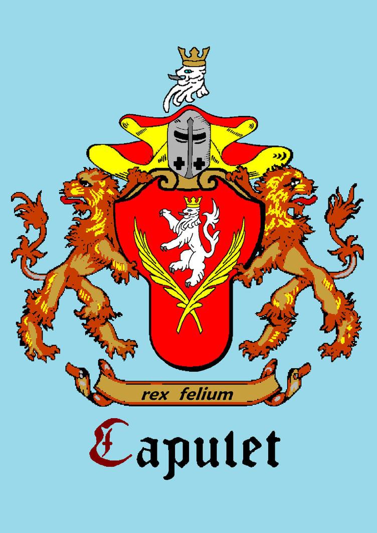 Capulet Coat Of Arms For Juliet By Seko Dragon On Deviantart