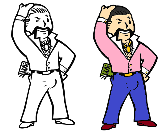 fallout vault boy gigolo coloriage 1 by worms577 on deviantart