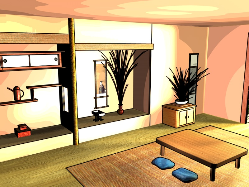 japanese anime room by angelsneverfade on deviantart. Black Bedroom Furniture Sets. Home Design Ideas