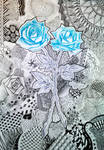 Rose zentangle