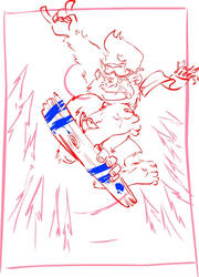 Snowboard BigFoot - sketch by ruth2m
