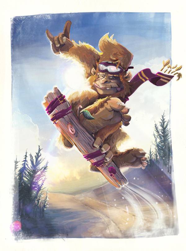 Snowboard BigFoot - FINAL by ruth2m
