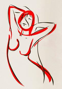 JapanLine - woman3 sketch