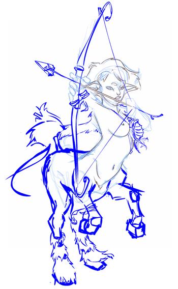 Centaur - 2Dartist sketch by ruth2m