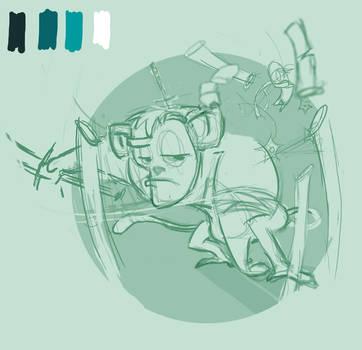 Unai, mono samurai -sketch2- by ruth2m