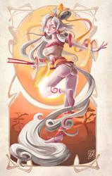 Kemonomimi, diosa Amaterasu by ruth2m
