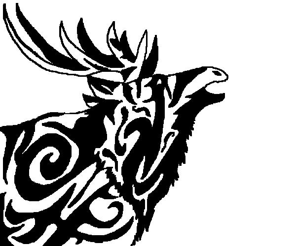 FREE Bull Elk Tribal Design By LouaWolf On DeviantArt