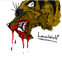 Sabetooth made in iScribble... by LouaWolf