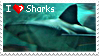 I -heart- Sharks stamp by LouaWolf
