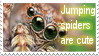 Jumping spiders are cute stamp