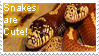 Snakes are cute Stamp by LouaWolf