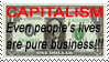 My dear capitalism stamp by LouaWolf