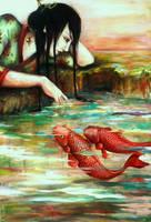 El dios del rio, painting by yunik-e