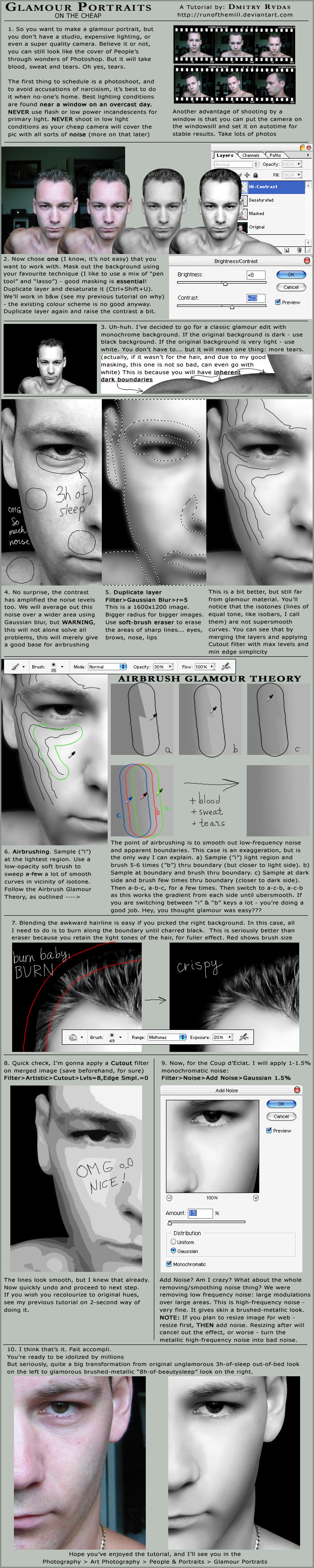 Glamour Portraits Tutorial by runofthemill