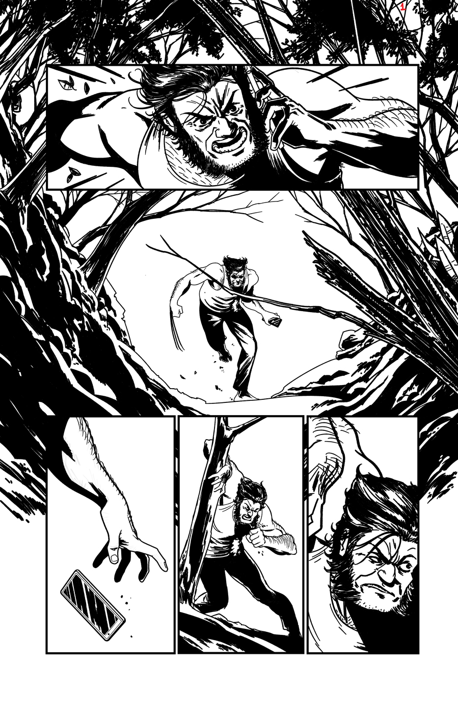 Wolverine sample page 01 by rafaelpimentel