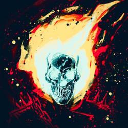 Ghost Rider Sketch by rafaelpimentel