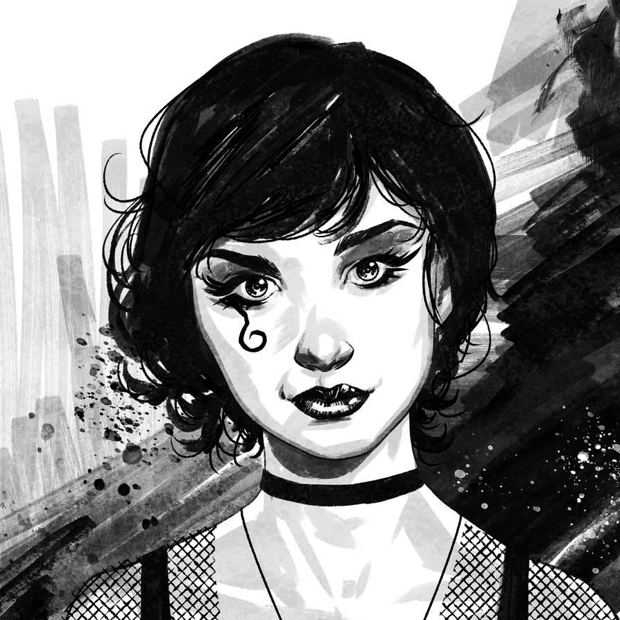Miss Death Sketch by rafaelpimentel