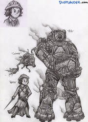 THE STEAMPUNKS: Characters by Dustlander