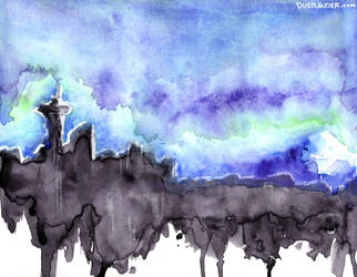 Seattle Skyline by Dustlander