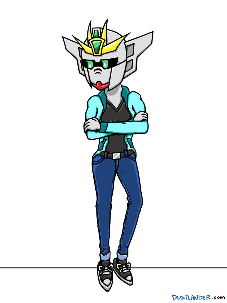 COMMISSION: Gundam Lady by Dustlander
