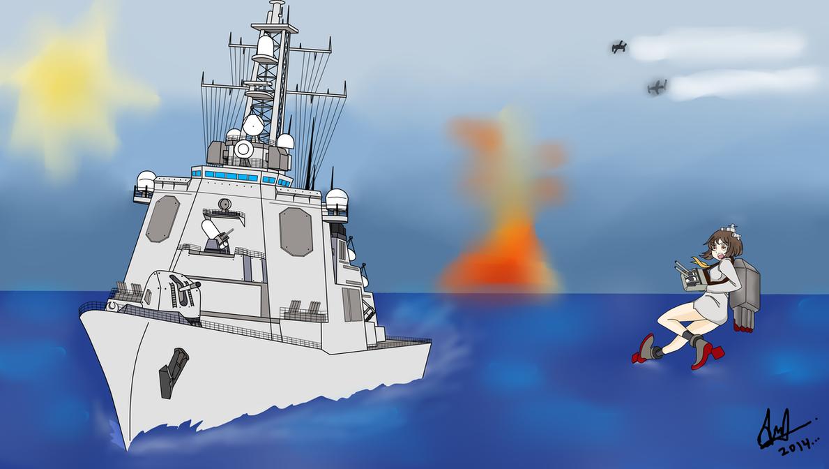 Kongo vs Yukikaze by HummerH3