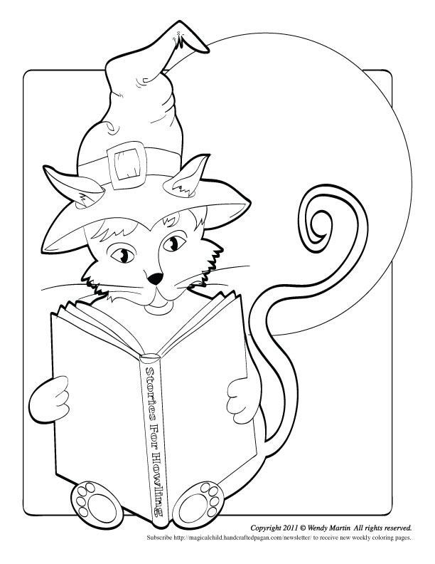 Halloween Cat coloring page by Lyon-Martin on DeviantArt