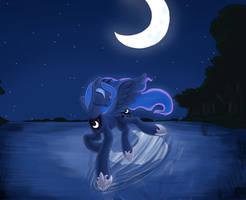 Lunar lake by otakuap