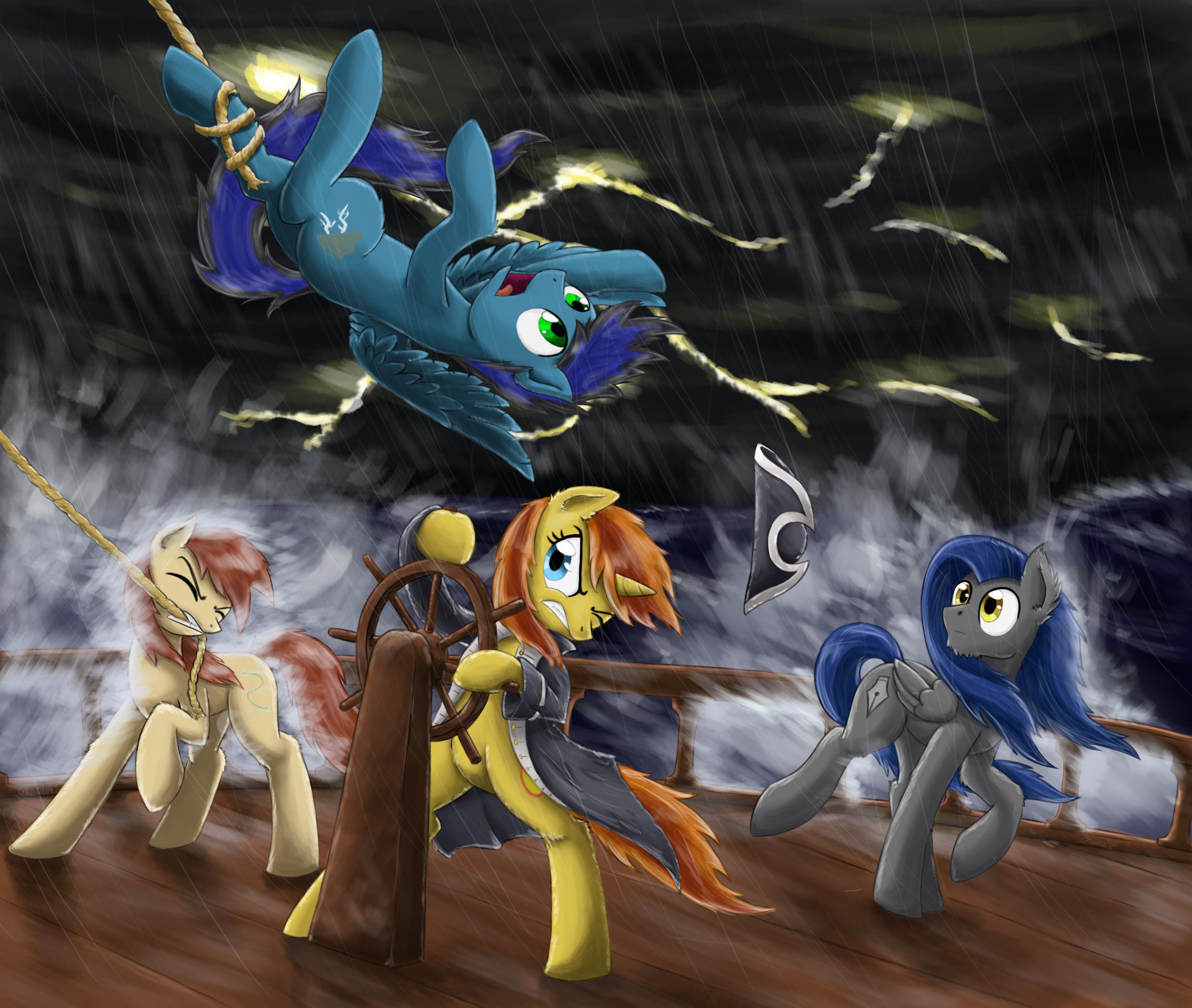 A Stormy Night by otakuap