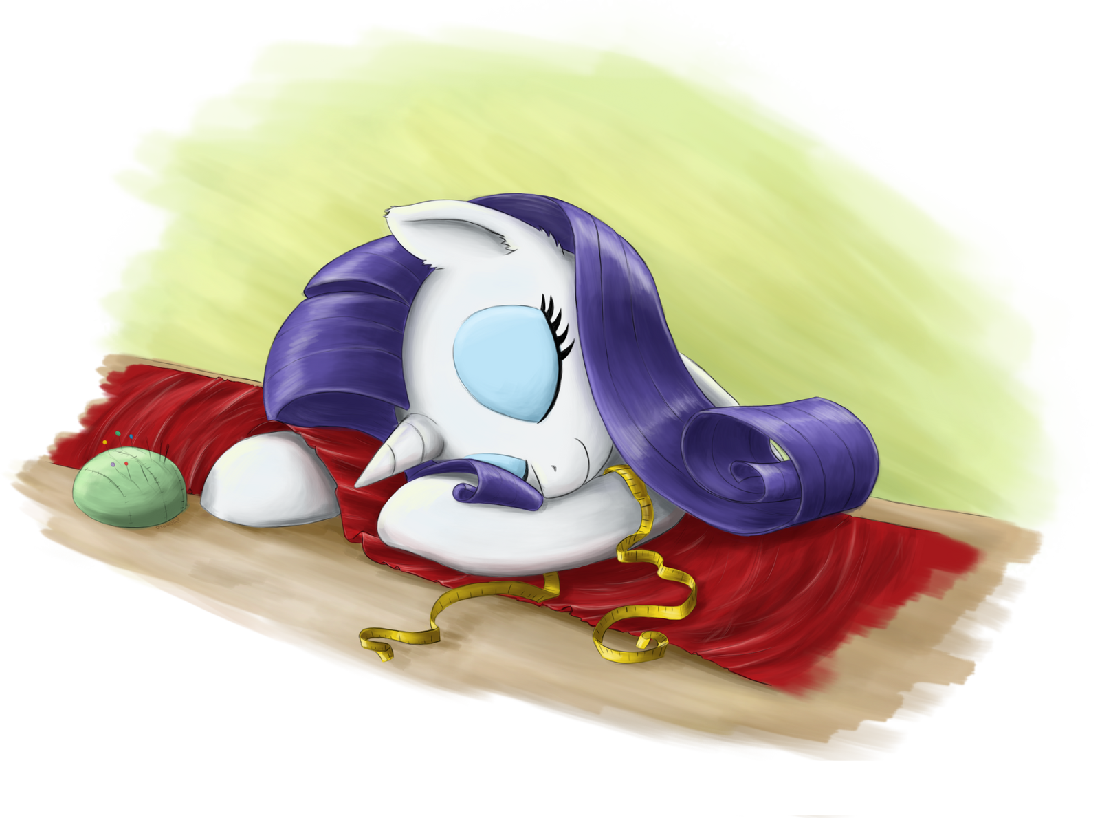 sleepy rarity by otakuap