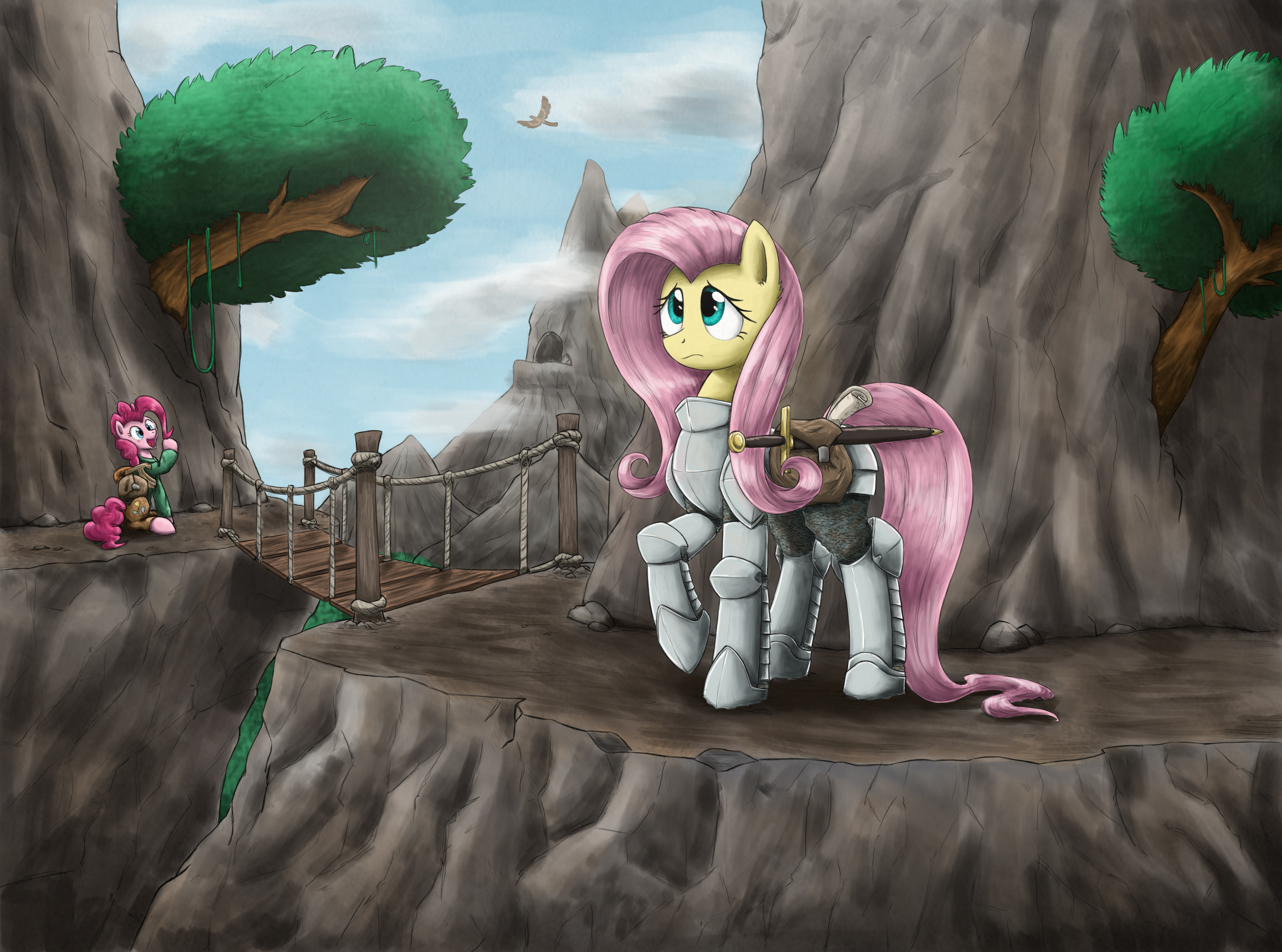 On high adventure with fluttershy