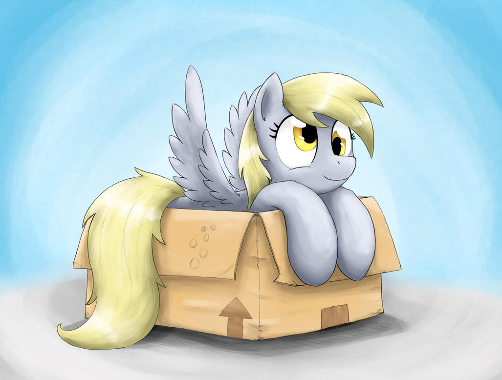 Derpy In A Box by otakuap