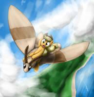 Moth Rider by otakuap